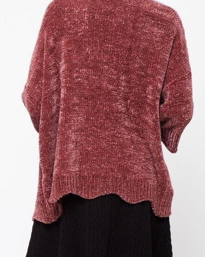 Velvet sweater cardi