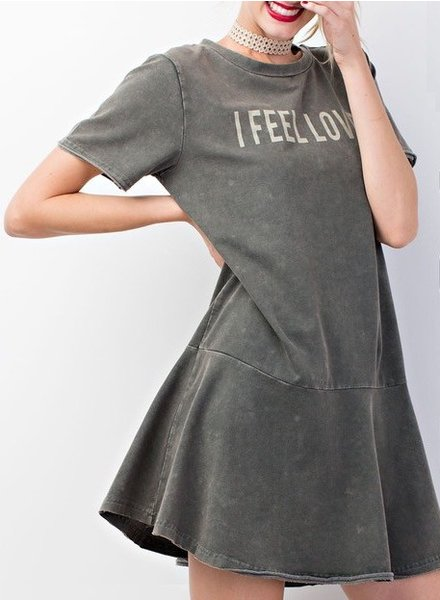 I FEEL LOVE Mini Dress