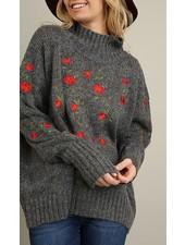 Floral Embellished Sweater