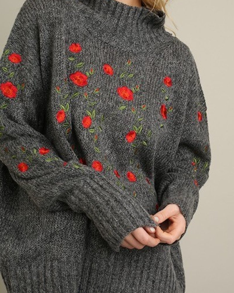 Floral Embellished Sweater