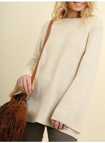 Oversized Sleeve Knit Sweater