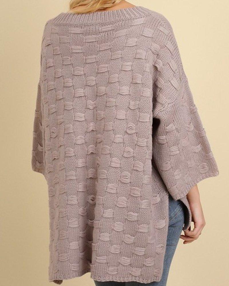 Basket Weave Texture Sweater