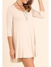 A-Line Scoop Neck Dress