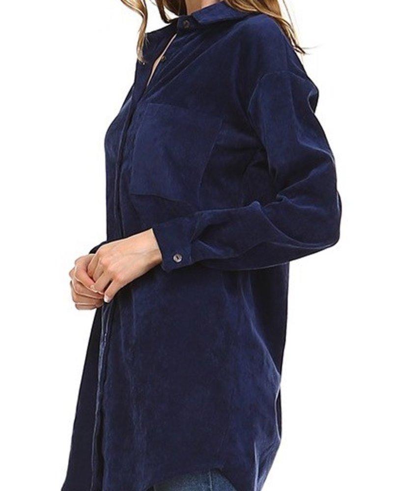 Corduroy Shirt Dress
