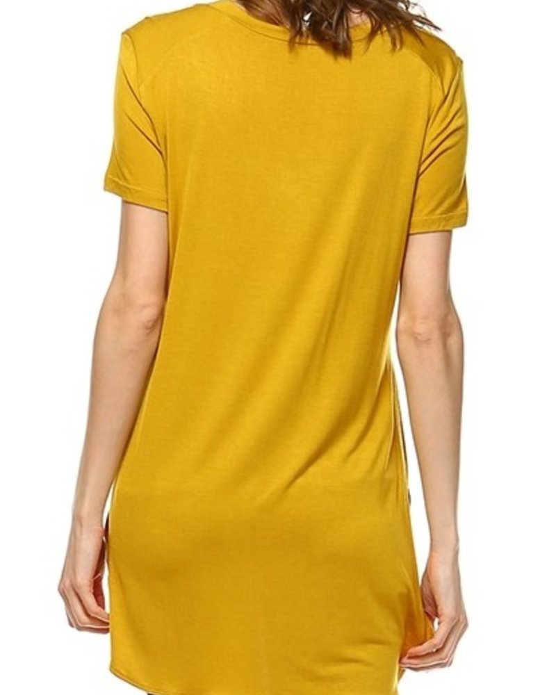 Short Sleeve Top with Slits