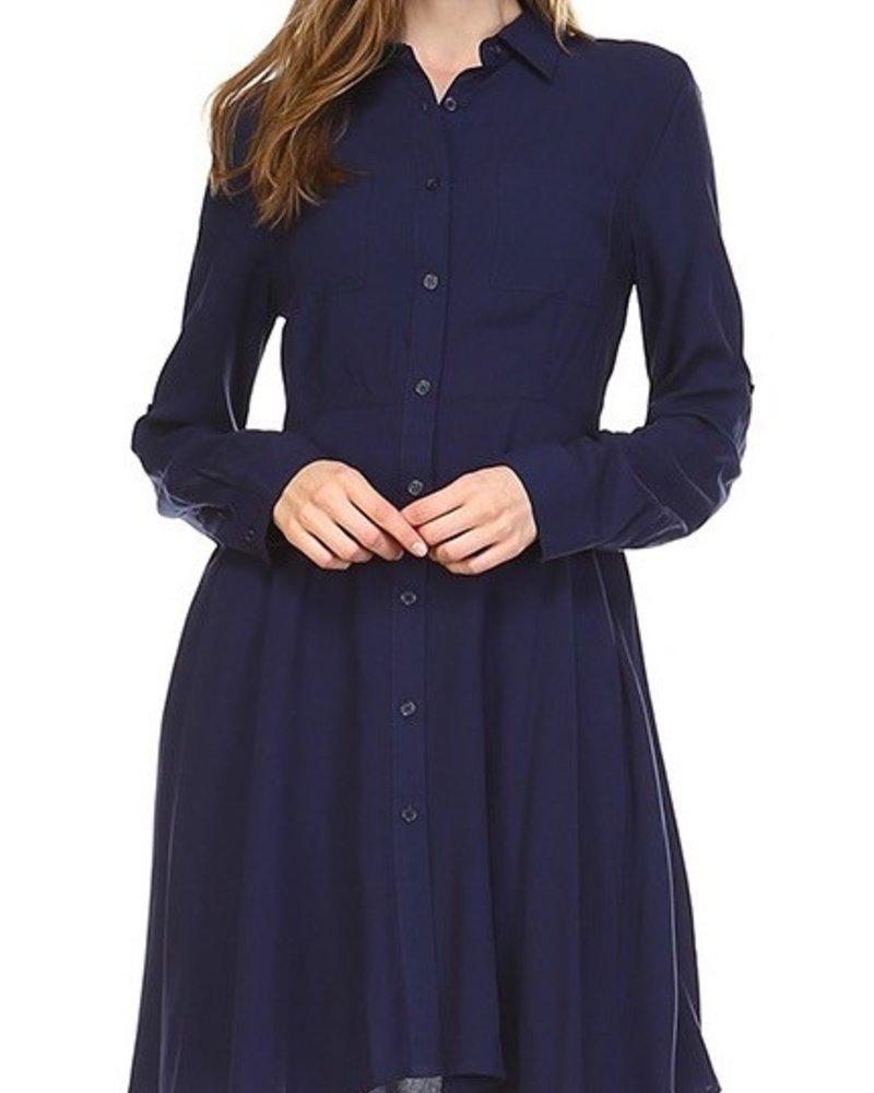 Classic Navy Dress