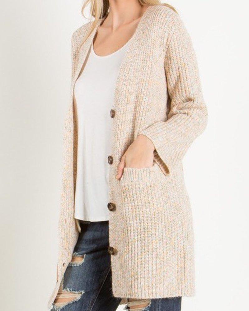 Button sweater cardi