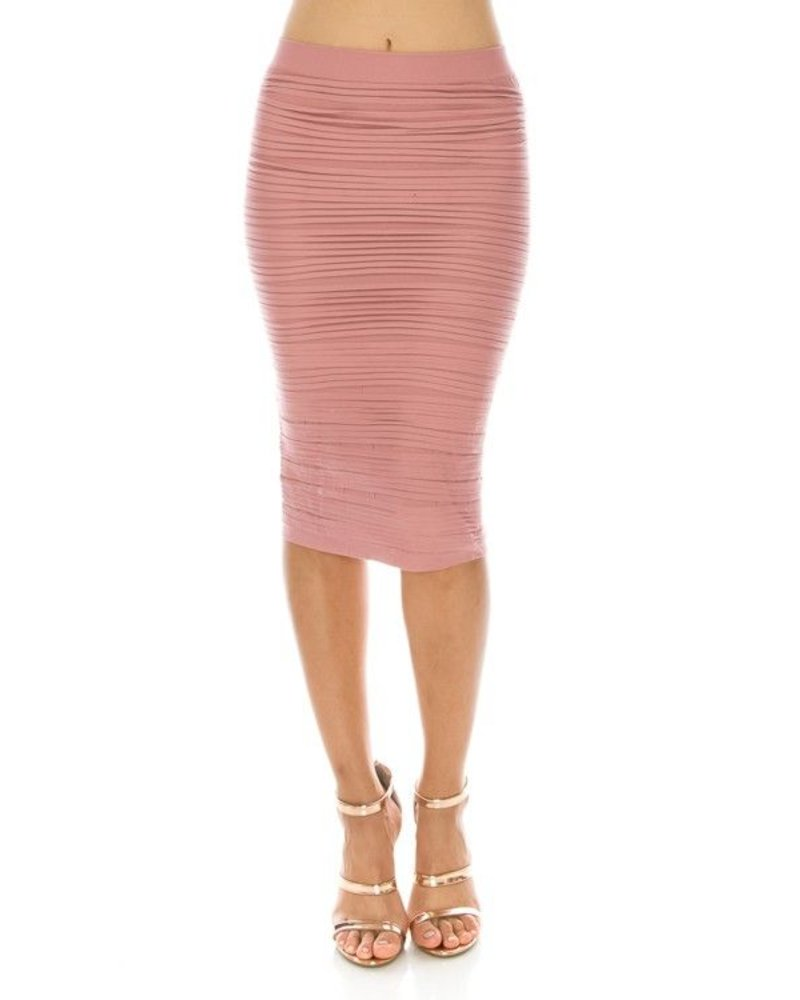 textured seamless skirt