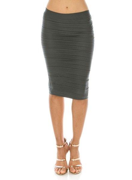 textured seamless skirt