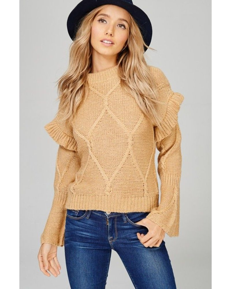 Sweater Knit Top Beige