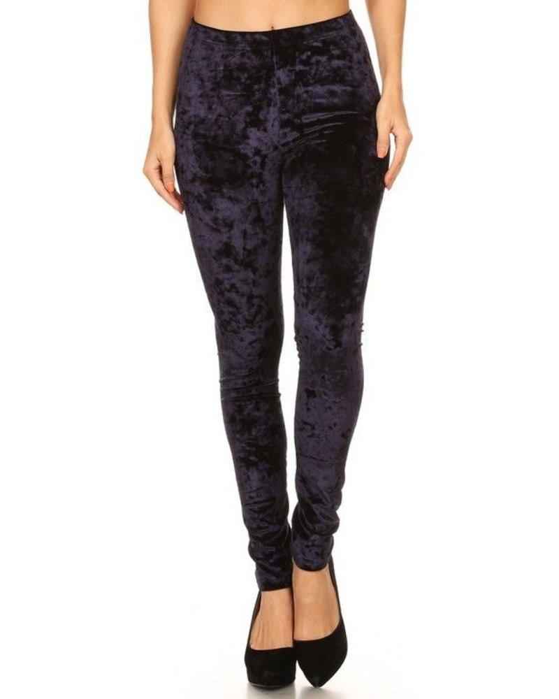 Knit velvet pants