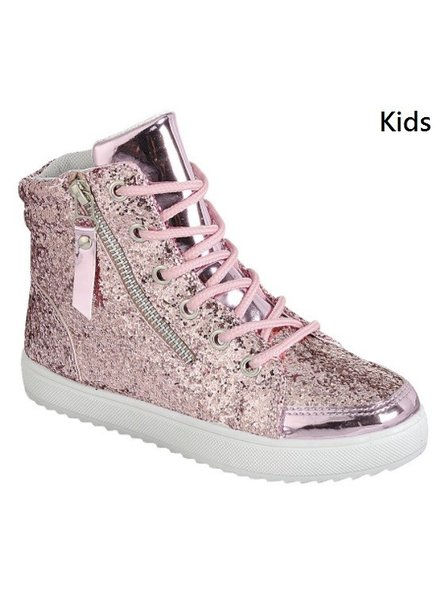 Kids High Top Glittery Sneakers