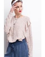 Sweater ruffle top