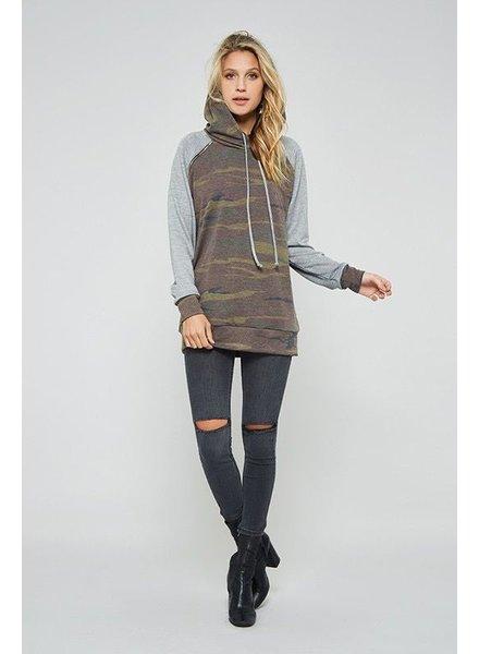sweatshirt Grey Camo Pull Over Sweatshirt