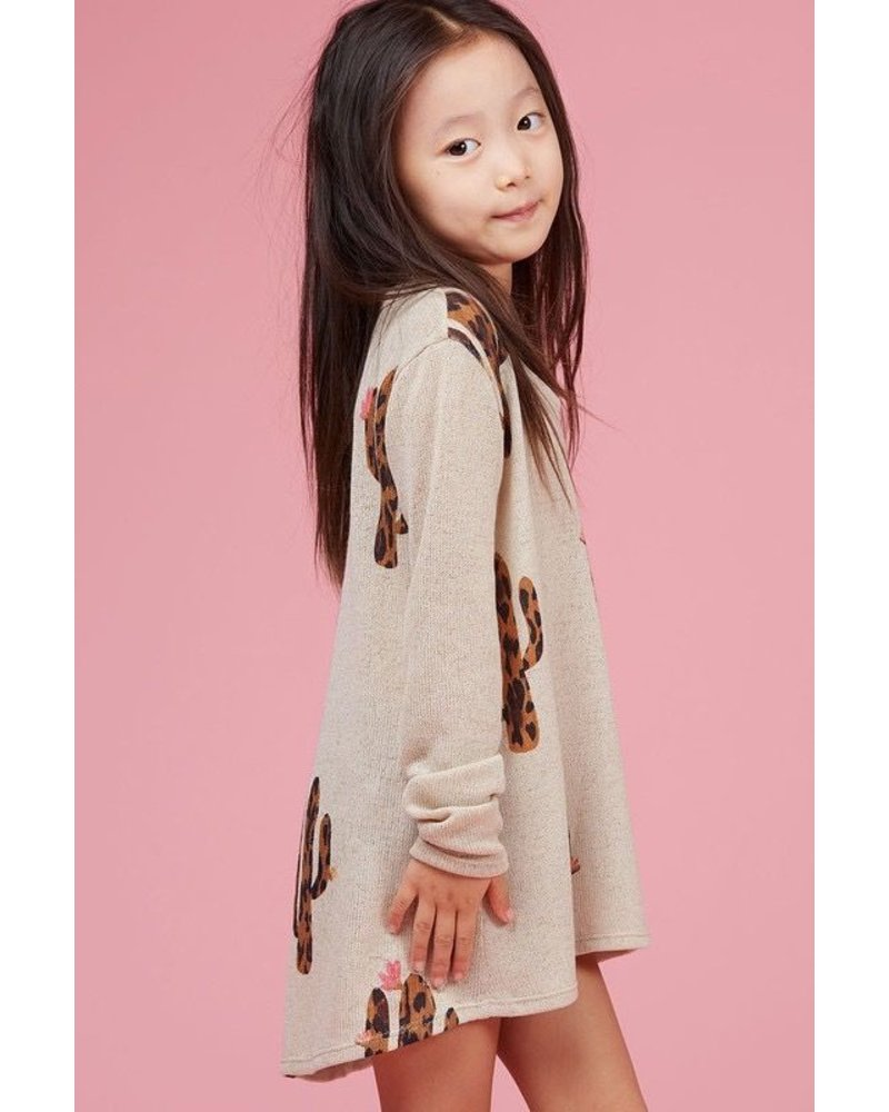 Cactus printed kids knit top