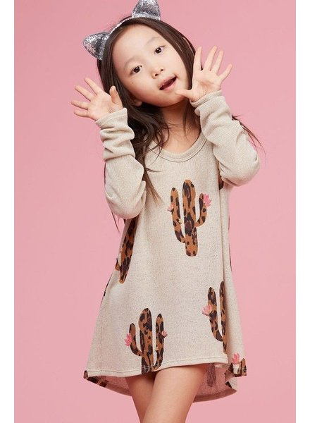 Kids Cactus printed kids knit top