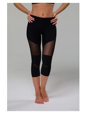 Cut Out Capri - Black / Black Mesh