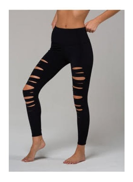 High Rise Shred Capri Midi Legging