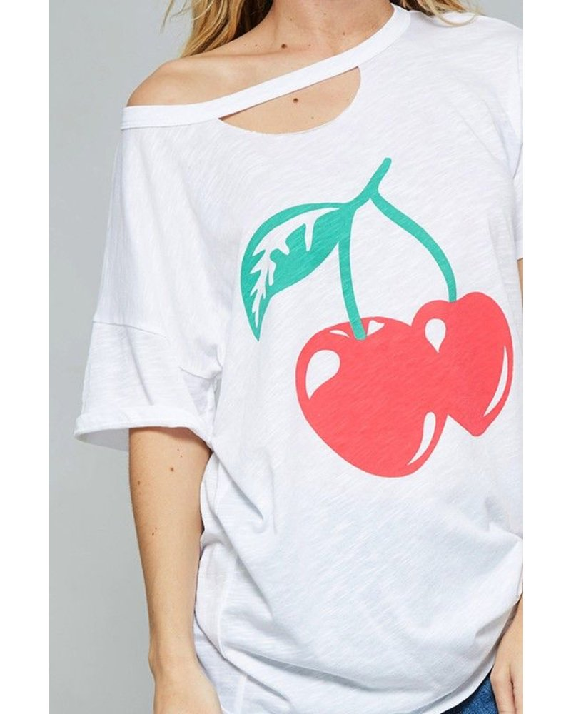 Cherry Print Top