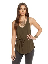 Racerback Tank with Drawstring Waist