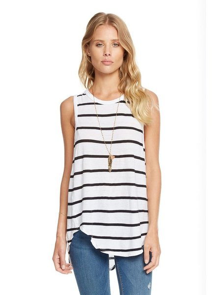 Knot Back Hi Lo Shirttail Tank