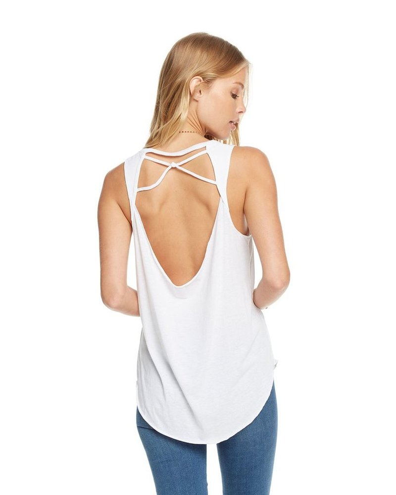 Vintage Inspired Knotted Drape Bank Tank