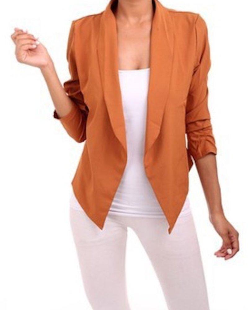 Cinched Sleeve Blazer