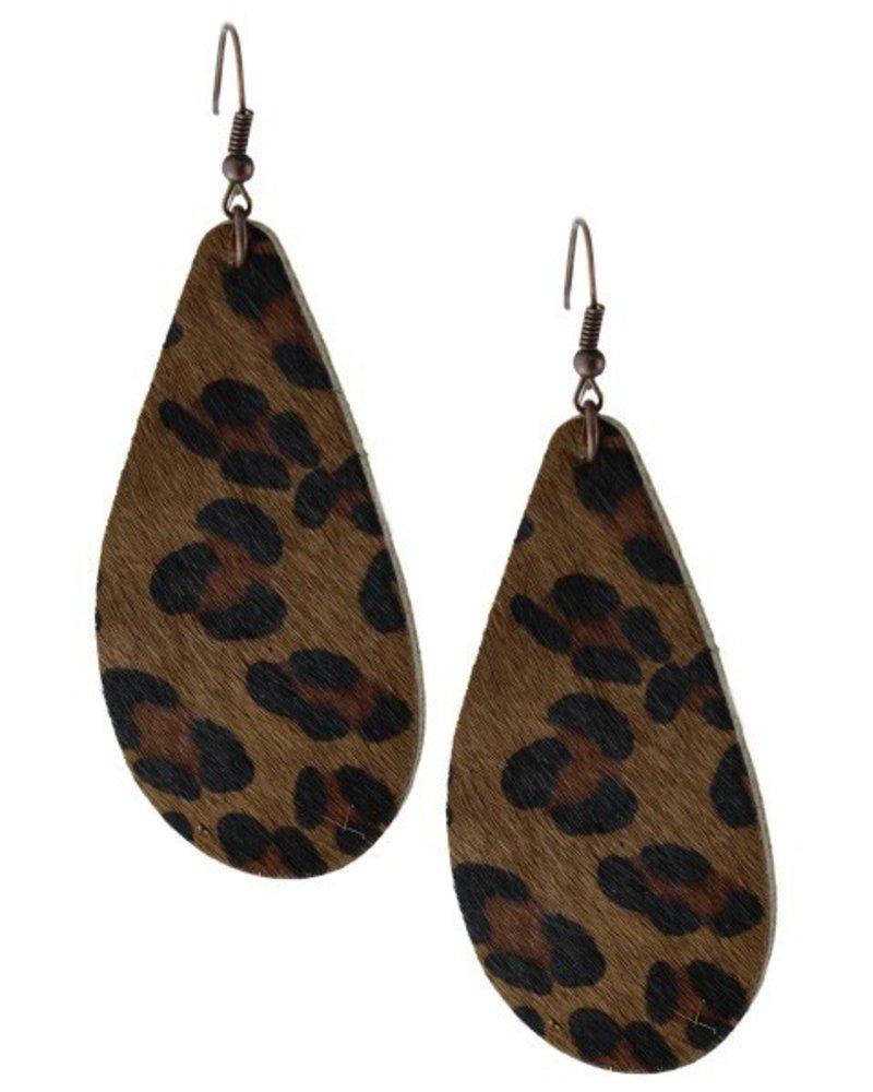Leather Drop Earings