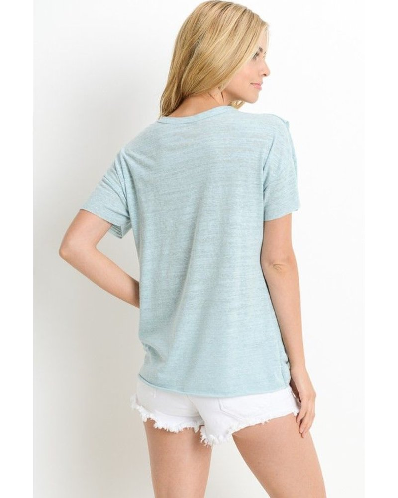 Heathered Ruffle Top