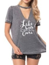 Lake Cut Out Distressed Tee