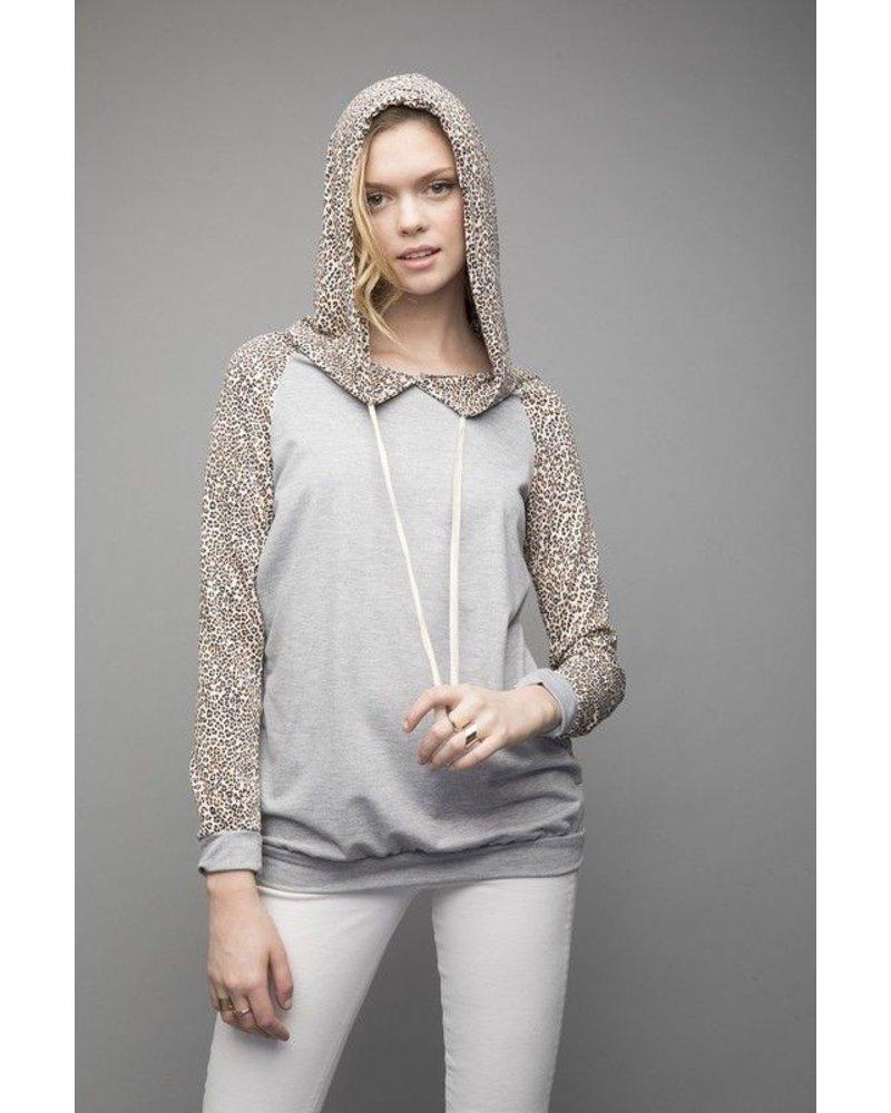 hoodie Leopard Print Hoodie