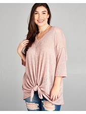 Oversized Dolman Vneck Top