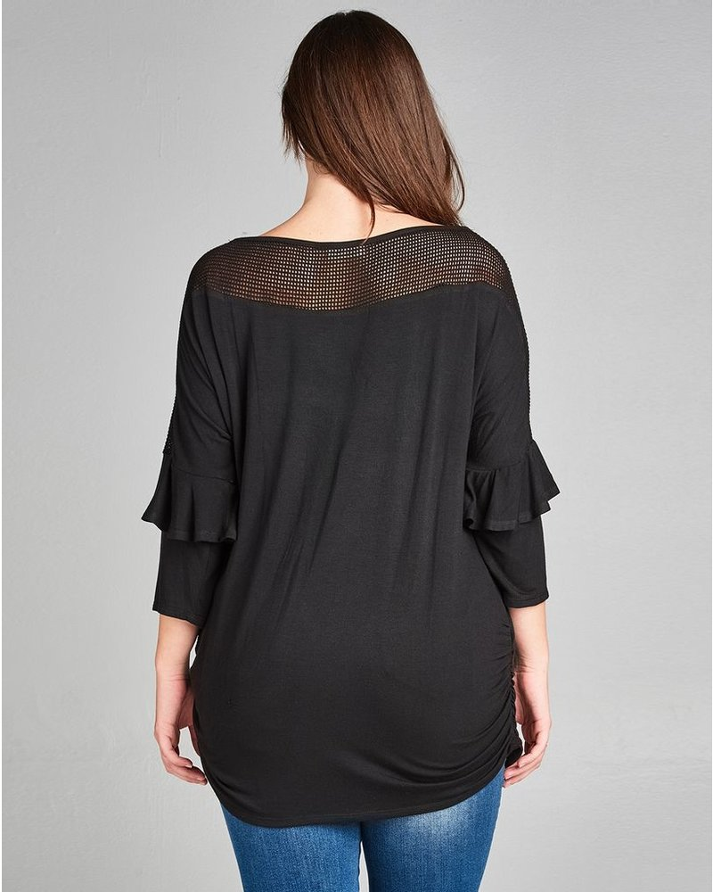Sheer Boat Neck Top