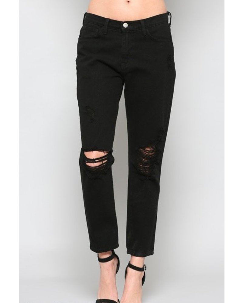 High Waisted/Girlfriend Cropped Jeans