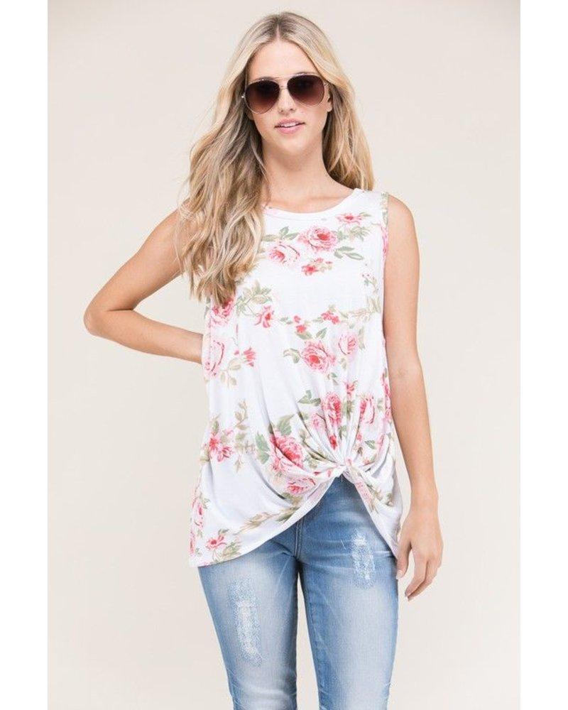 Floral Knot Tunic Top