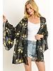 Kimono with flounce sleeves