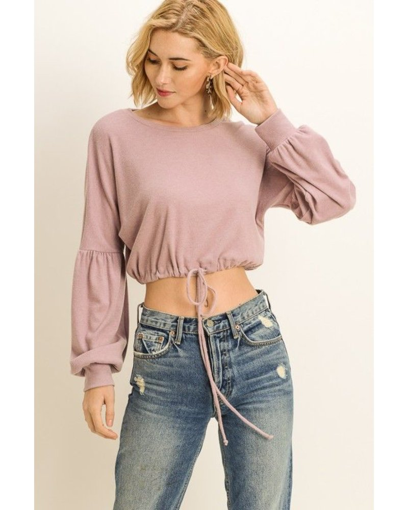 Cropped Drawstring Pullover