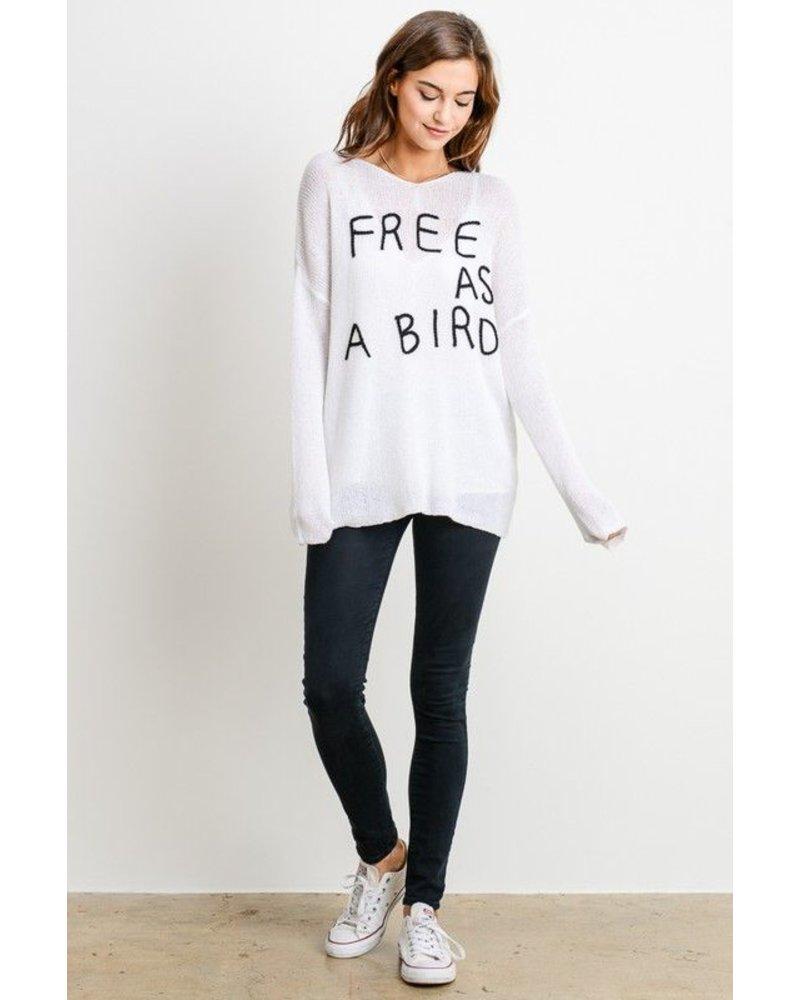 Free As A Bird Oversized Sweater