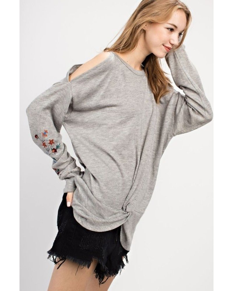 Twisted Front LS Top