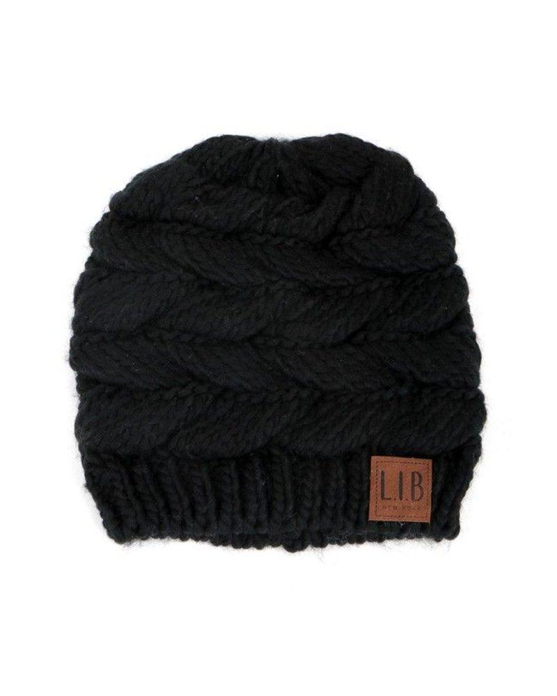 Knit Messy Ponytail/Bun Beanie