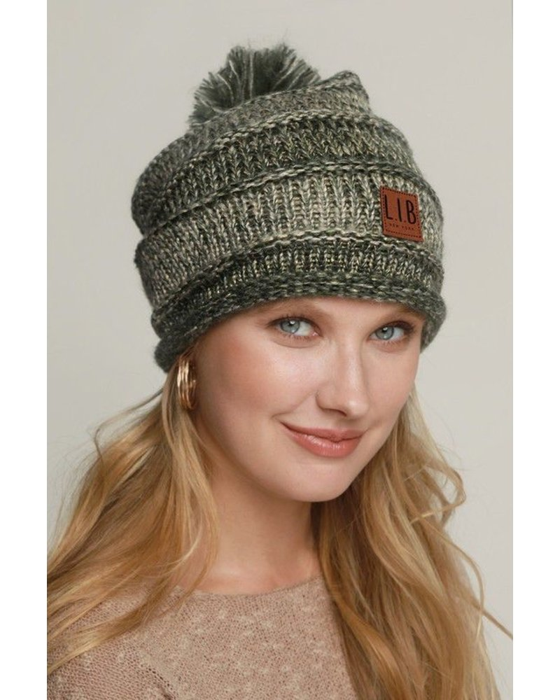 Casual Ribbed Knit Beanie