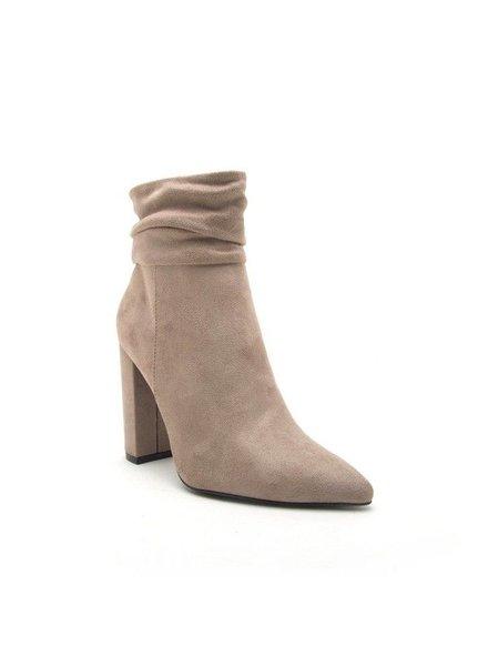 Booties,crinkle,high heels
