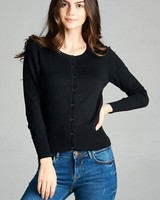 Button up crew neck cardigan