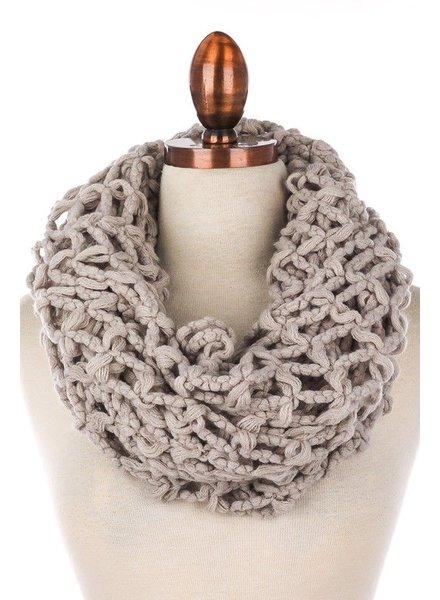 scarves Crochet Net Infinity Scarf