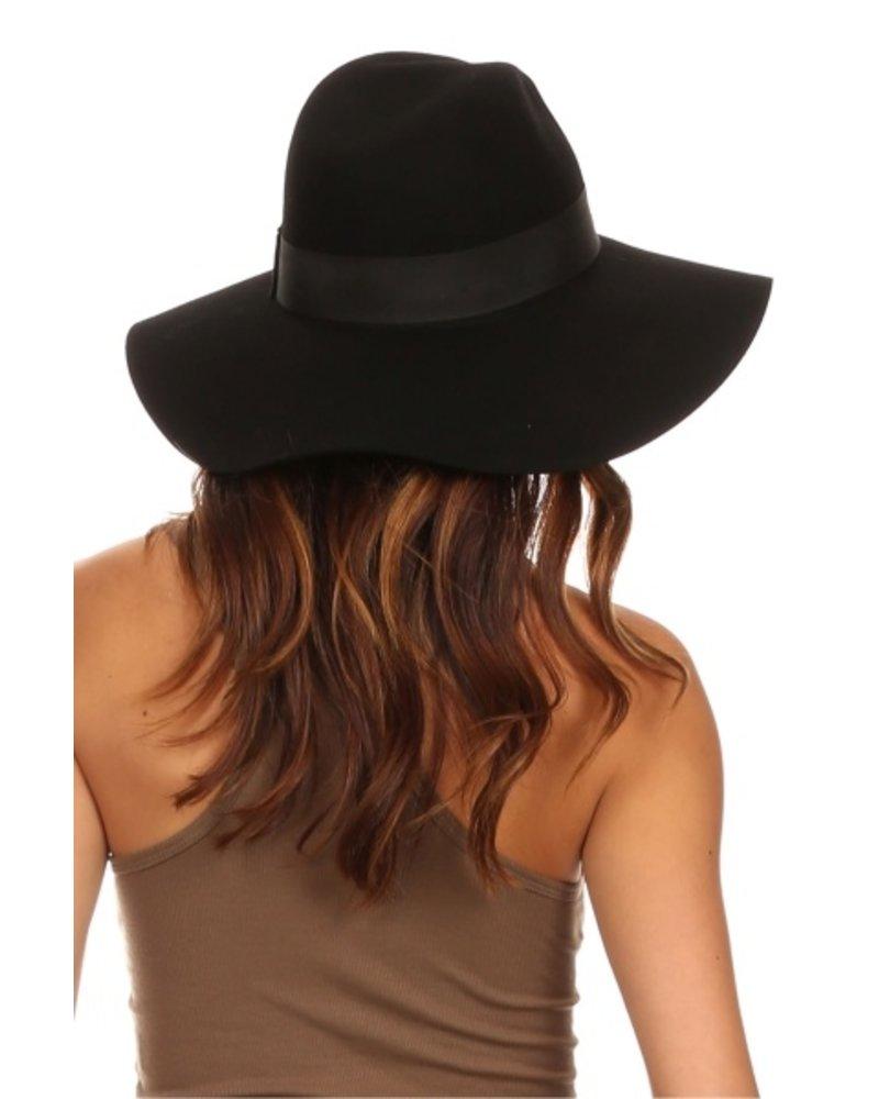 Wide Brim Wool Floppy Hat