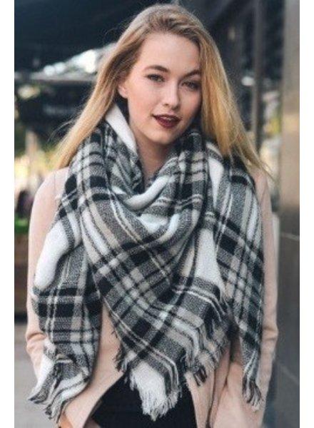 scarves Large plaid scarf