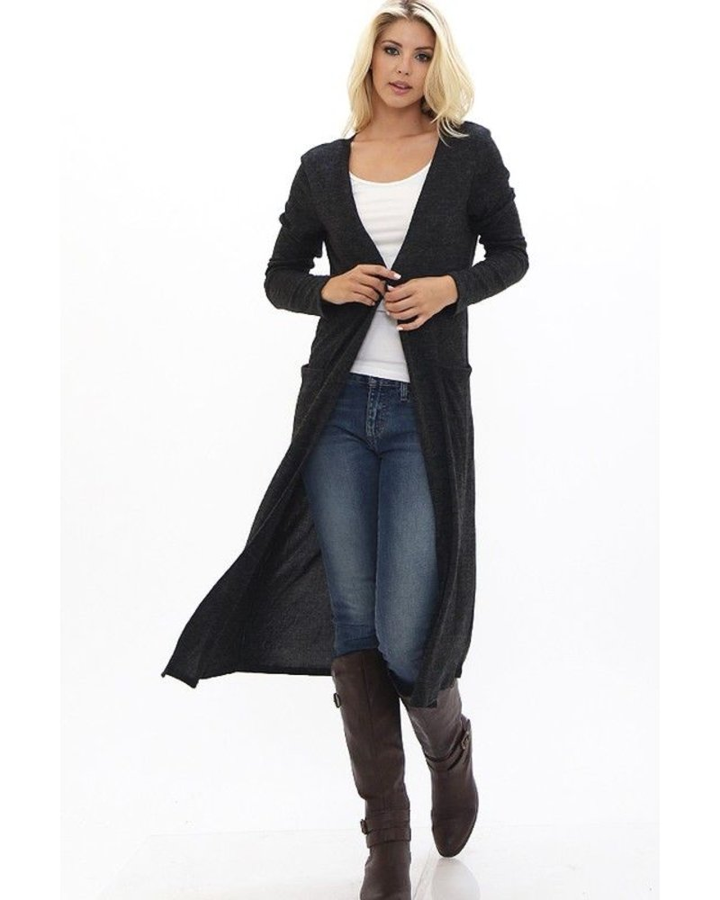 LONG CARDIGAN WITH POCKET