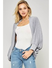Dolman slv high-low cardigan