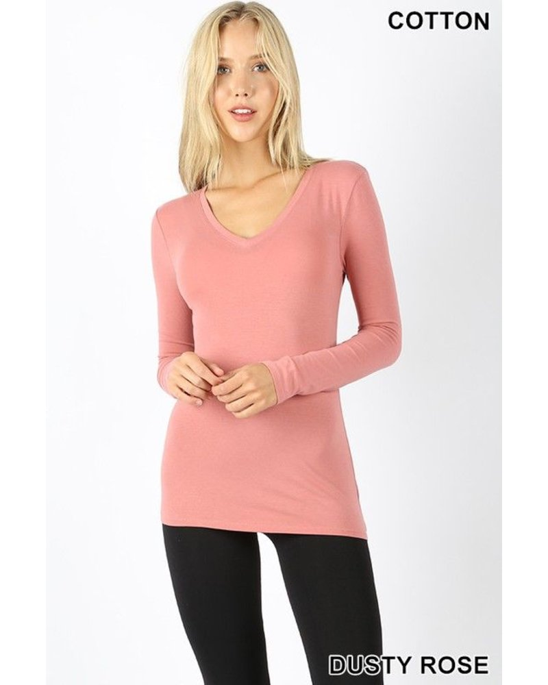 V-NECK LONG SLEEVE TOP