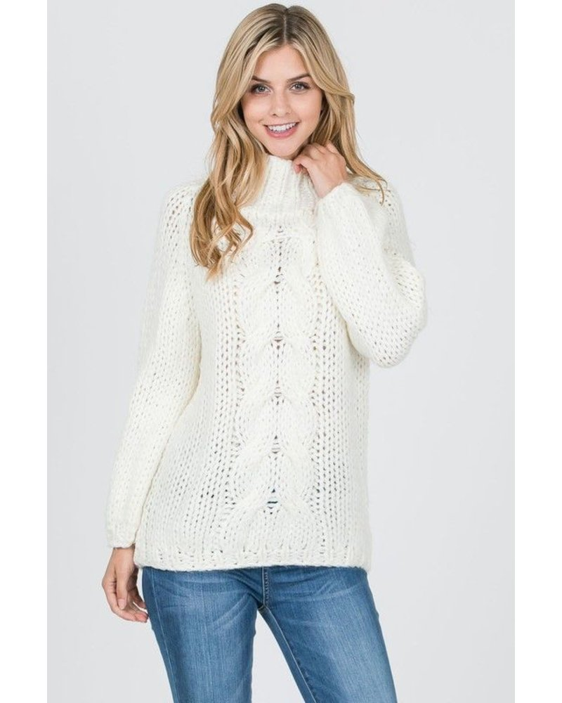 Hand Knit Chunky Cable Sweater